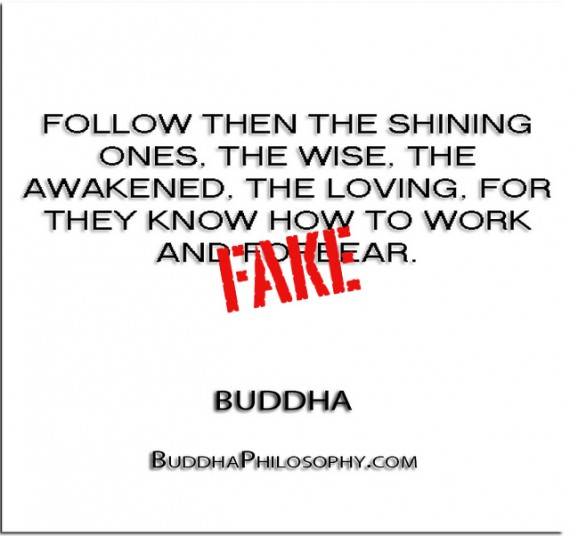 Follow then the shining ones, the wise, the awakened, the loving